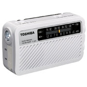 TY-JKR5(W) [FM/AM 手回し充電ラジオ 防塵 防水 ワイドFM対応 ホワイト]