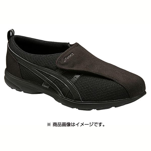 FLC307-9090 [ウォーキングシューズ ライフウォーカー 307(W) レディース 23.5cm ブラック×ブラック]