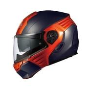 KAZAMI XL フラットブラック/オレンジ [システムヘルメット]