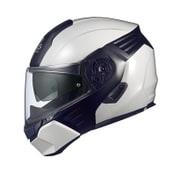 KAZAMI L ホワイトメタリック/ブラック [システムヘルメット]