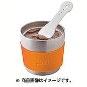 SE720(OR) [真空断熱デザートカップ&スプーン オレンジ]