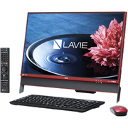 PC-DA370EAR [LAVIE Desk All-in-one DA370/23.8型ワイド/Celeron-3855U/HDD 1TB/4GB/DVDスーパーマルチ/Windows 10 Home 64ビット/Office Personal Premium プラスOffice365サービス/レッド]
