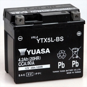 YTX5L-BS 台湾ユアサ [バイク用バッテリー 電解液注入済]