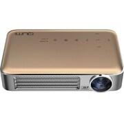 QUMI Q6-GD [LEDモバイルプロジェクター WXGA 720P Wi-Fi内蔵 MHL接続対応 超軽量475g 高輝度800ルーメン ゴールド]