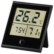 TEM-210-K [時計付温湿度計]
