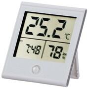 TEM-210-W [時計付温湿度計]