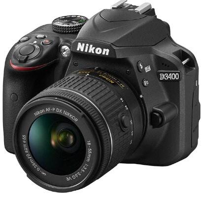 D3400 18-55VR レンズキット ブラック [ボディ+交換レンズ「AF-P DX NIKKOR 18-55mm f/3.5-5.6G VR」]