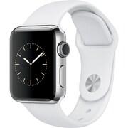 Apple Watch Series 2 - 38mmステンレススチールケースとホワイトスポーツバンド