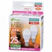 LDA3L-G-E17IH212P [LED電球 ミニクリタイプ 25形相当 E17口金 電球色 2個入]