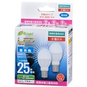 LDA3D-G-E17IH212P [LED電球 ミニクリタイプ 25形相当 E17口金 昼光色 2個入]