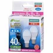 LDA4D-G-E17IH212P [LED電球 ミニクリタイプ 40形相当 E17口金 昼光色 2個入]