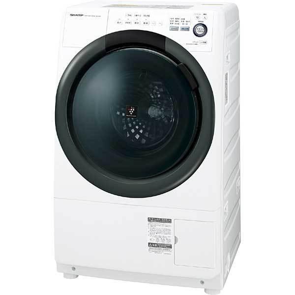 ES-S7B-WL [ドラム式洗濯乾燥機(洗濯7kg・乾燥3.5kg) プラズマクラスター搭載 左開き ホワイト系]