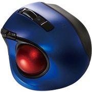 MUS-TBLF134BL [レーザー式 小型静音オートスピード Bluetoothトラックボールマウス 5ボタン ブルー]