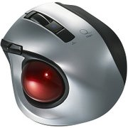 MUS-TBLF134SL [レーザー式 小型静音オートスピード Bluetoothトラックボールマウス 5ボタン シルバー]