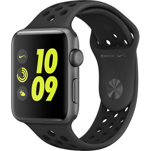 Apple Watch Nike+ - 42mm スペースグレイアルミニウムケースとアンスラサイト/ブラックNikeスポーツバンド