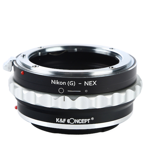 KF-NGE [一眼レフカメラ用 レンズマウントアダプター ブラック×シルバー ボディ側:ソニーE レンズ側:ニコンF(Gタイプ対応)]