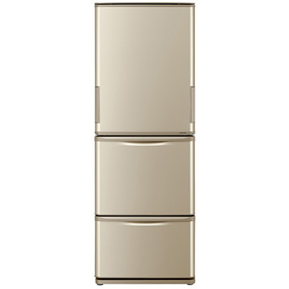 SJ-W352C-N [冷蔵庫 (350L・どっちもドア) 3ドア ゴールド系]