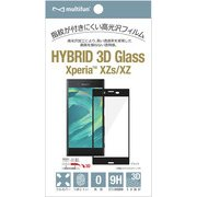 BL-PF08SO-BK [Xperia XZs/XZ用 液晶保護3Dガラス&PET フィルム ブラックフレーム]
