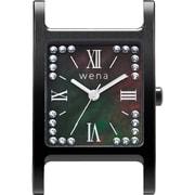 WN-WT12B-H [wena wrist(ウェナ リスト)用ヘッド Three Hands Square Premium Black Crystal Edition]