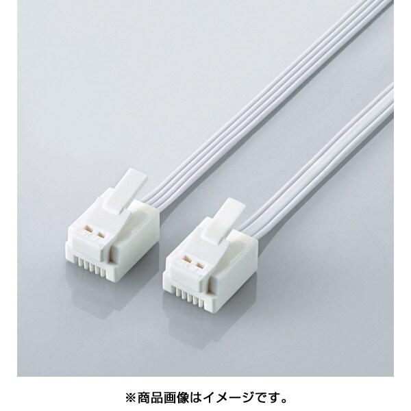 MJ-T20WH [モジュラーケーブル 爪折れ防止 20m ホワイト]