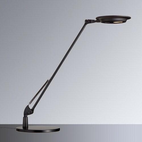 LEDスタンドライト Rebio (レビオ) シングルアーム (ベース付きタイプ) ブラック