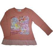 68705 120SPK 裾フリル ベーシック 長袖Tシャツ キラキラ☆プリキュアアラモード C [キャラクター衣料品]