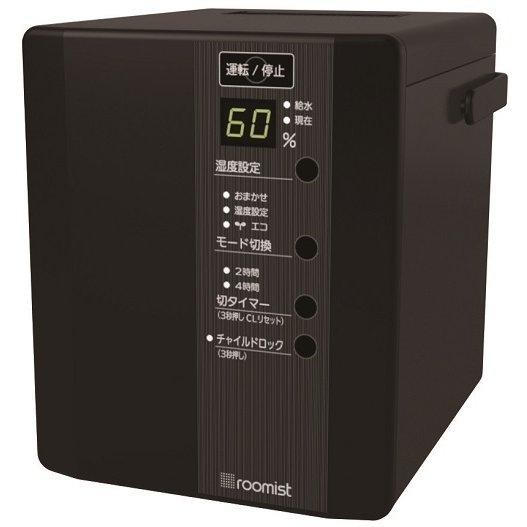 SHE35PD-K [roomist スチームファン蒸発式加湿器 和室6畳/洋室10畳まで ブラック]