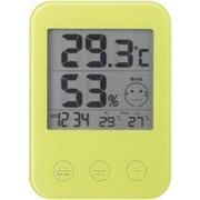 DO02GR [熱中症・インフルエンザ警報付きデジタル温湿度計 グリーン]