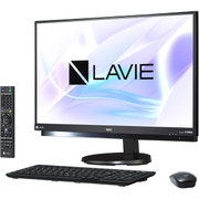 PC-DA870HAB [一体型デスクトップパソコン 23.8型ワイド/Core i7-7567U/メモリ 8GB/HDD 3TB/ブルーレイディスクドライブ/Windows 10 Home 64ビット(Creators Update適用済み)/Office Home & Business Premium プラス Office 365 サービス/ブラック]