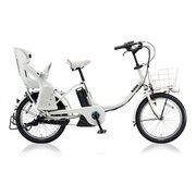 bikke MOB e(ビッケ モブ e) E.XBKホワイト またぎやすいコンパクトU型フレーム [電動アシスト自転車 2018年モデル 前後20型タイヤサイズ 内装3段変速 12.3Ahバッテリー 3P805A0 BM0C38]