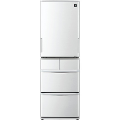 SJ-P411D-H [プラズマクラスター冷蔵庫 (412L・どっちもドア) 5ドア グレー系]