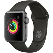 Apple Watch Series 3 (GPS) - 38mm スペースグレイアルミニウムケース と グレイスポーツバンド [MR352J/A]
