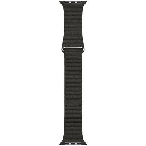 Apple Watch 42mm ケース用 レザーループ - M チャコールグレイ [MQV62FE/A]