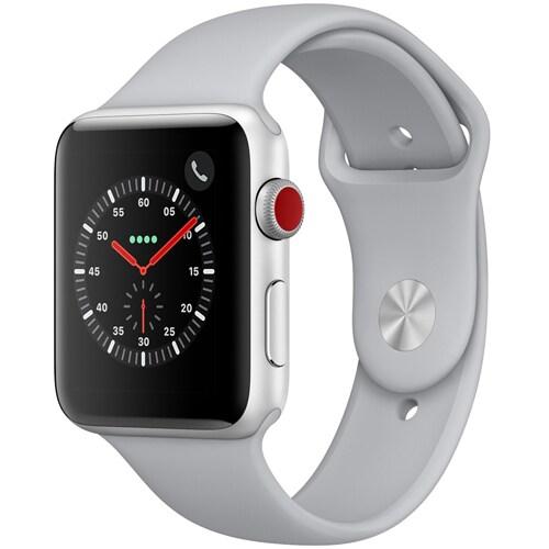 Apple Watch Series 3 (GPS + Cellularモデル) - 42mm シルバーアルミニウムケース と フォッグスポーツバンド [MQKM2J/A]