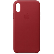 iPhone X レザーケース - (PRODUCT)RED