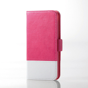 AVA-T17PLFDTPN [iPod Touch ソフトレザーカバー ツートンタイプ ピンク×ホワイト]