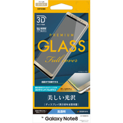 3S871GSN8G [Galaxy note 8 3Dガラスパネル 光沢 ゴールド]