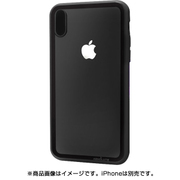 ATLCGIPX/BLK [iPhone X ケース LINKASE CLEAR Gorilla Glass ブラック]