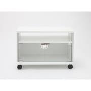 AVG600-WY-01WT [~32V型テレビ用ガラス扉付きテレビ台 キャスター付き ホワイト]