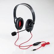HS-MHW02BK [モンスターハンター:ワールド×エレコム 4極ヘッドセットマイクロフォン 両耳オーバーヘッド 1.0m PS4専用 ブラック]