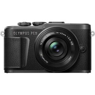 PEN E-PL10 14-42mmEZレンズキット BLK [ボディ+交換レンズ「M.ZUIKO DIGITAL ED 14-42mm F3.5-5.6 EZ ブラック」 ブラック]