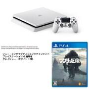 PS4+ワンダと巨像セット [SIE ソニー・インタラクティブエンタテインメント 「プレイステーション4 通常版 グレイシャー・ホワイト 1TB CUH-2100BB02」+「ワンダと巨像 PS4ソフト」]