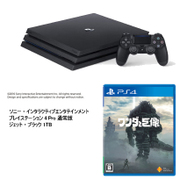 PS4 Pro+ワンダと巨像セット [SIE ソニー・インタラクティブエンタテインメント 「プレイステーション4 Pro 通常版 ジェット・ブラック 1TB CUH-7100BB01」+「ワンダと巨像 PS4ソフト」]