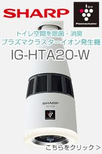 プラズマクラスターイオン発生機 IG-HTA20-W