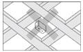 桟を組み合わせた格子天井