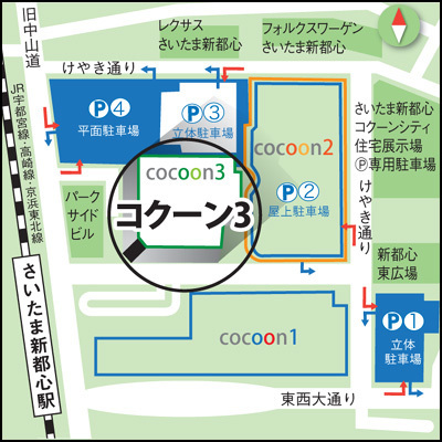 マルチメディアさいたま新都心駅前店 地図