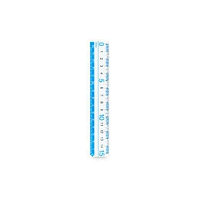 レイメイ藤井 定規 カラー定規 ブルー 15cm AJR125A 10個
