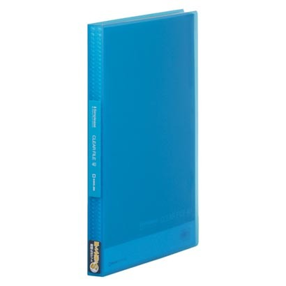 キングジム シンプリーズ クリアーファイル(透明) 固定式40ポケット 3冊 青