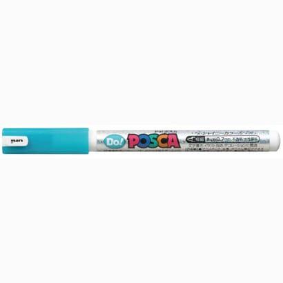 三菱鉛筆 ポスカ 極細 シャイニースカイブルー 水性マーカー