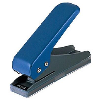 プラス 一穴パンチ ブルー PU-001